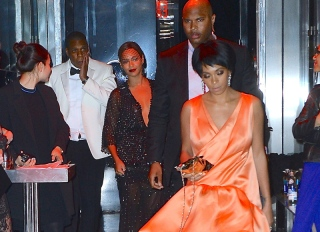 Beyonce, Jay-Z and Solange Knowles were seen leaving the Met Gala After Party at the Boom Boom Room in the Meatpacking District.