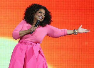 SYDNEY, AUSTRALIA - DECEMBER 12: Oprah Winfrey is seen on stage during her 'An Evening With Oprah' tour at Allphones Arena on December 12, 2015 in Sydney, Australia.