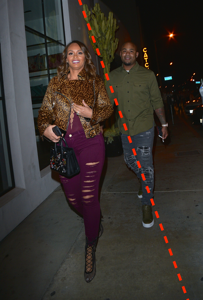 Evelyn Lozada and Carl Crawford go to Catch Restaurant for dinner in LA.