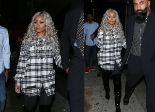 Blac Chyna gets escorted to her car as she parties at the newly opened club The Diamond District in Hollywood
