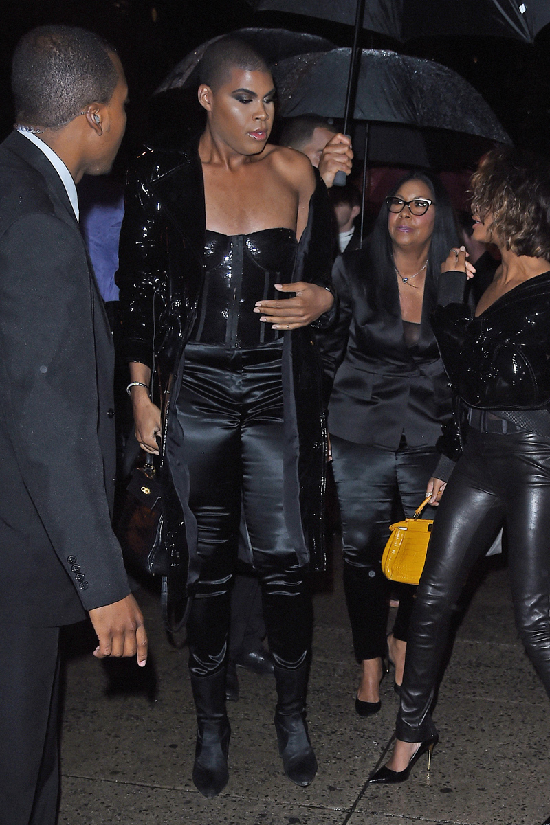 EJ Johnson arrives at the Tom Ford show in New York City, New York.