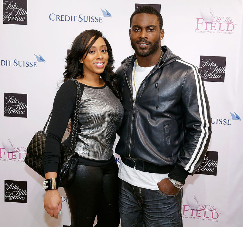 NEW YORK, NY - JANUARY 31:  Kijafa Vick and NFL Player Michael Vick attend the Saks Fifth Avenue And Off The Field Players' Wives Association Charitable Fashion Show on January 31, 2014 in New York City.