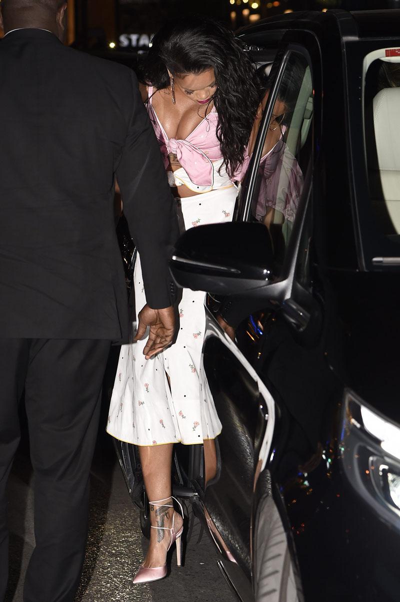 Rihanna attends the Sephora Fenty Beauty presentation at the Callao Cinema in Madrid, Spain.