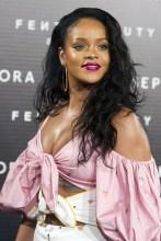 Rihanna attends the 'Fenty Beauty' photocall at Callao cinema