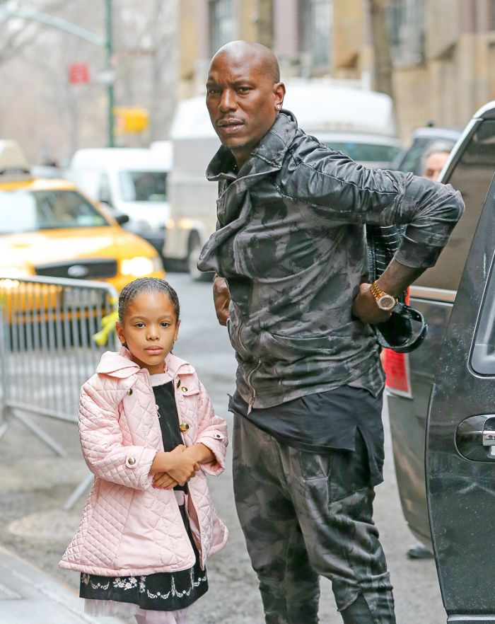 Tyrese Gibson seen with his daughter Shayla Somer Gibson as they arrive at 'The View' in New York City on March 26, 2015.