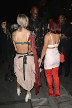 Lamar Odom Leaves Maxim 2017 Halloween party with girls