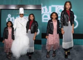 Erykah Badu daughters Mars Merkaba Thedford Puma Sabti Curry 2017 Soul Train Awards Red Carpet at Orleans Arena