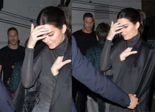 Power Couple Kendall Jenner and Blake Griffin are both seen leaving The Avalon in Hollywood. As they were leaving, Kendall is seen wearing Blakes ; Ermenegildo Zegna Coat where it is inscribed with Blakes' name inside