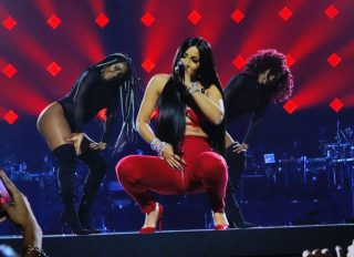 Cardi B performs at a Tidal concert at Barclay's Center in Brooklyn, New York City.