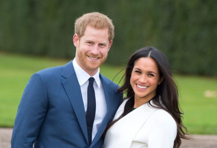 Prince Harry and Meghan Markle attend a photocall at Kensington Palace after announcing their engagement. Their wedding is scheduled for next Spring.