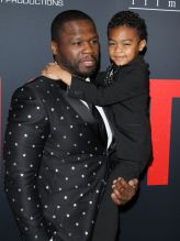 Den of Thieves - Los Angeles Premiere Curtis Jackson aka 50 Cent and son Sire Jackson