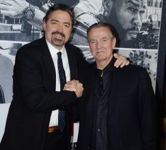 Den of Thieves - Los Angeles Premiere Christian Gudegast and father Eric Braeden