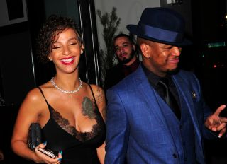 Singer Ne-Yo and wife Crystal Renay have New Year Eve Dinner at Catch LA in West Hollywood on December 31, 2017.