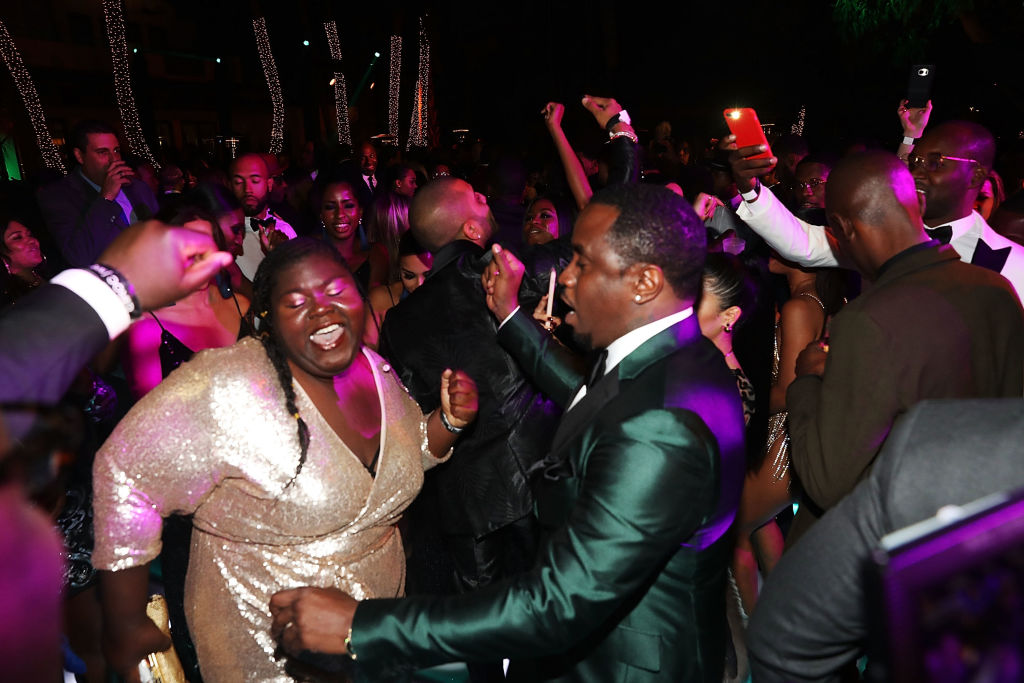 """MIAMI, FL - DECEMBER 31:  Gabourey Sidibe and Sean """"Diddy"""" Combs attend Sean """"Diddy"""" Combs Hosts CIROC The New Year 2018 Powered By Deleon Tequila at Star Island on December 31, 2017 in Miami, Florida."""