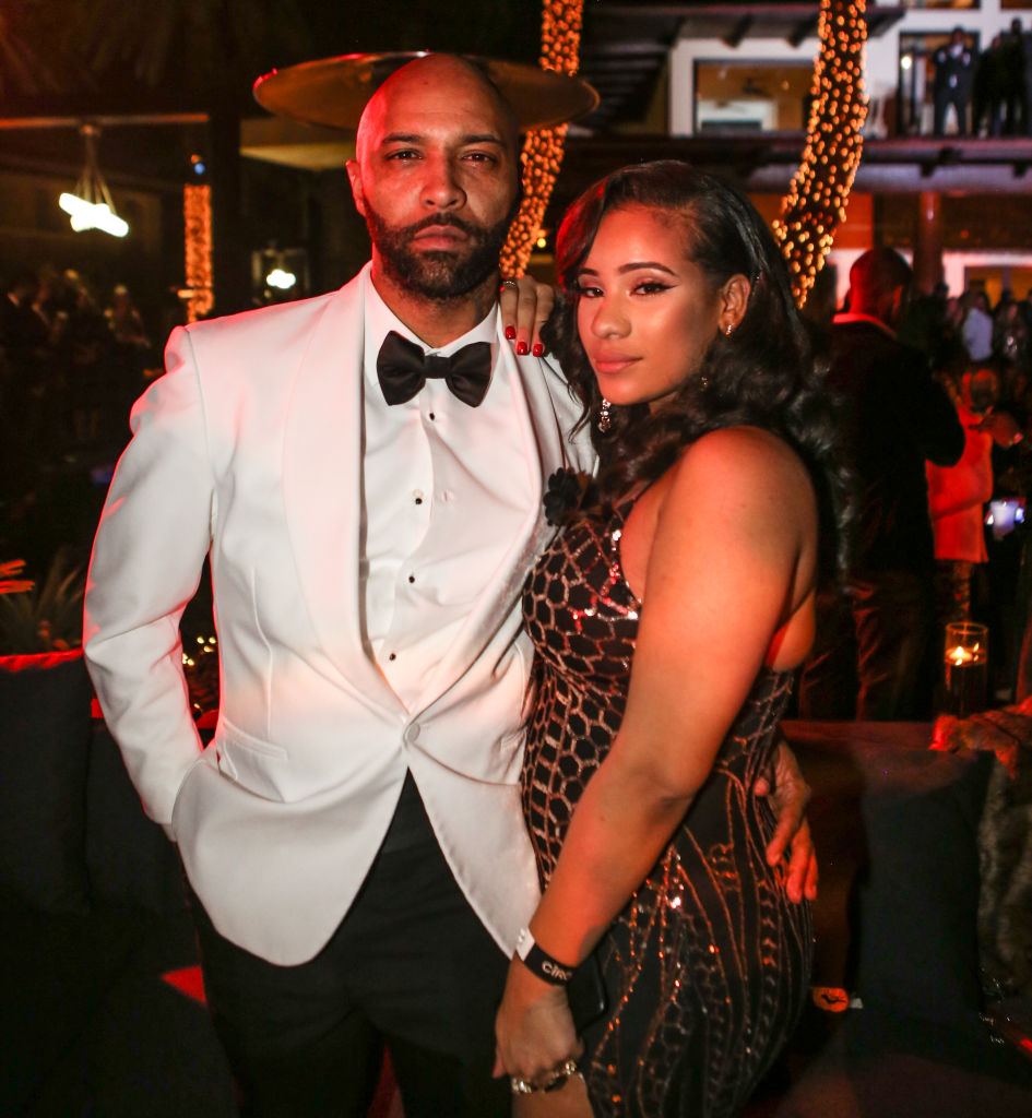 MIAMI, FL - DECEMBER 31: (L-R) Joe Budden and  Cyn Santana attend Sean 'Diddy' Combs Hosts CIROC The New Year 2018 Powered By Deleon Tequila at Star Island on December 31, 2017 in Miami, Florida