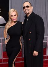 NEW YORK, NY - JANUARY 28: Coco Austin and recording artist Ice-T attend the 60th Annual GRAMMY Awards at Madison Square Garden on January 28, 2018 in New York City.
