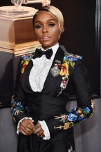 NEW YORK, NY - JANUARY 28: Recording artist and actor Janelle Monae attends the 60th Annual GRAMMY Awards at Madison Square Garden on January 28, 2018 in New York City.