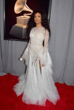 NEW YORK, NY - JANUARY 28: Recording artist SZA attends the 60th Annual GRAMMY Awards at Madison Square Garden on January 28, 2018 in New York City.