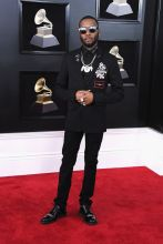 NEW YORK, NY - JANUARY 28: Recording artist Shy Glizzy attends the 60th Annual GRAMMY Awards at Madison Square Garden on January 28, 2018 in New York City.