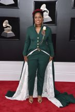 NEW YORK, NY - JANUARY 28: Recording artist Rapsody attends the 60th Annual GRAMMY Awards at Madison Square Garden on January 28, 2018 in New York City.