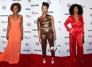 WEST HOLLYWOOD, LOS ANGELES, CA, USA - JANUARY 11: Marie Claire's Image Maker Awards 2018 held at Delilah on January 11, 2018 in West Hollywood, Los Angeles, California, United States.