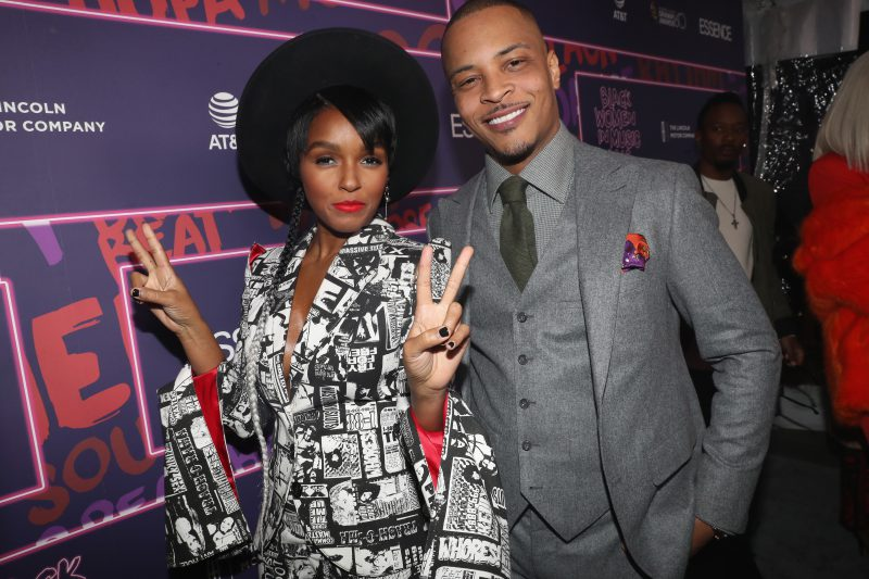 NEW YORK, NY - JANUARY 25:  Janelle Monae and T.I. attends the Essence 9th annual Black Women in Music at Highline Ballroom on January 25, 2018 in New York City.