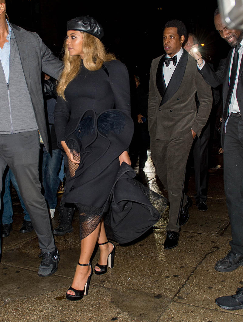 Beyonce and Jay Z were among the star studded guest list at Diddy's Rooftop Grammy Party. They were seen leaving an EXTREMELY crowded Catch Nightclub , surrounded by security guards. Diddy and Cassie, French Montana, and many more were in attendance