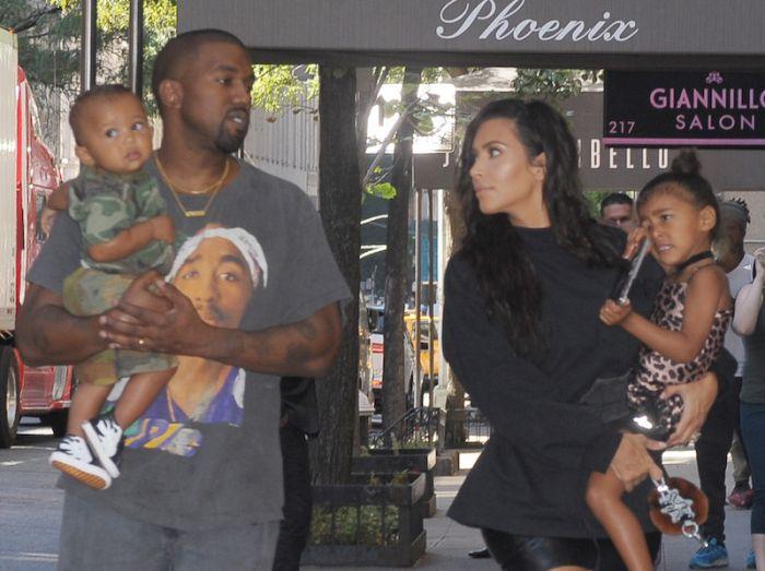 Kim Kardashian Kanye West North West Saint West