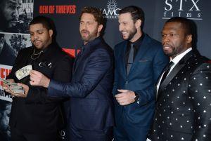 Den of Thieves - Los Angeles Premiere O'Shea Jackson Jr., Gerard Butler, Pablo Schreiber, and Curtis Jackson aka 50 Cent