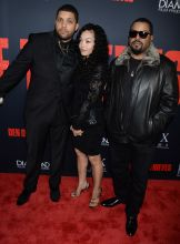 Den of Thieves - Los Angeles Premiere O'Shea Jackson Jr., Mom Kim and dad Ice Cube