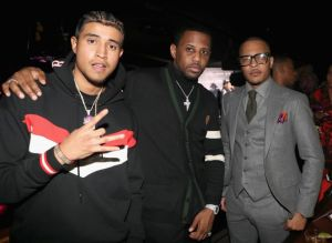 NEW YORK, NY - JANUARY 25: Rapper Kay G, rapper Fabolous and T.I. attend the Essence 9th annual Black Women in Music at Highline Ballroom on January 25, 2018 in New York City.