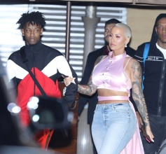 Amber Rose and new boyfriend 21 Savage at Nobu.