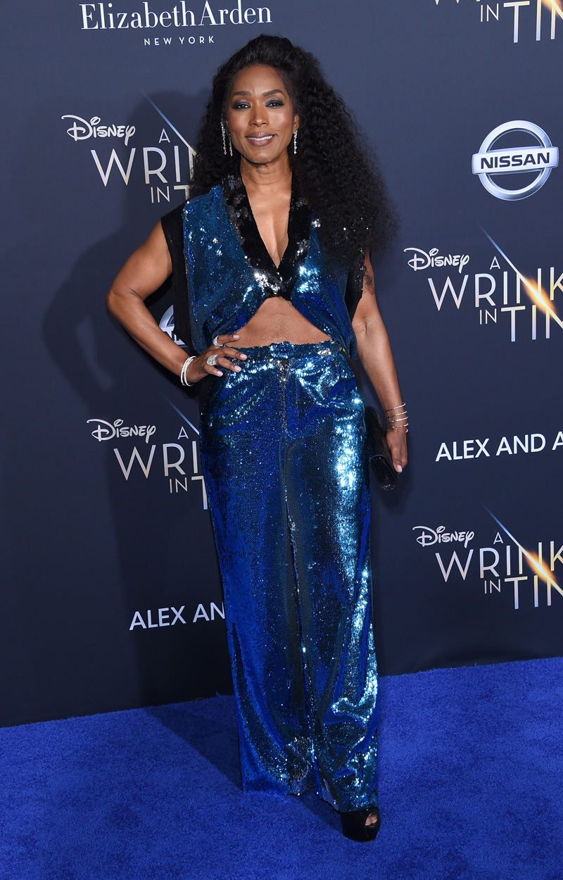 Angela Bassett February 26, 2018 - Los Angeles, California, United States - February 26h 2018 - Los Angeles, California  USA -   The ''A Wrinkle In Time''  Premiere held at the El Capitan Theater, Hollywood, Los Angeles.