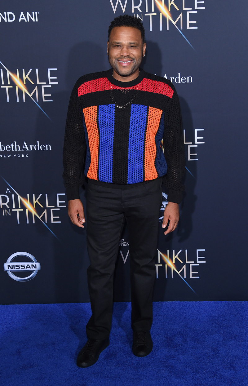 Anthony Anderson February 26, 2018 - Los Angeles, California, United States - February 26h 2018 - Los Angeles, California USA - The ''A Wrinkle In Time'' Premiere held at the El Capitan Theater, Hollywood, Los Angeles.