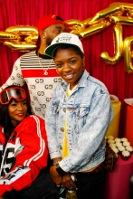 """Teyana Taylor celebrates the grand opening of """"Junie Bee Nails"""" with celeb friends in NYC"""