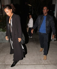 Chris Rock and his girlfriend Megalyn Ekechinwoke arrive to mastros. To celebrate black history with celebrity friends