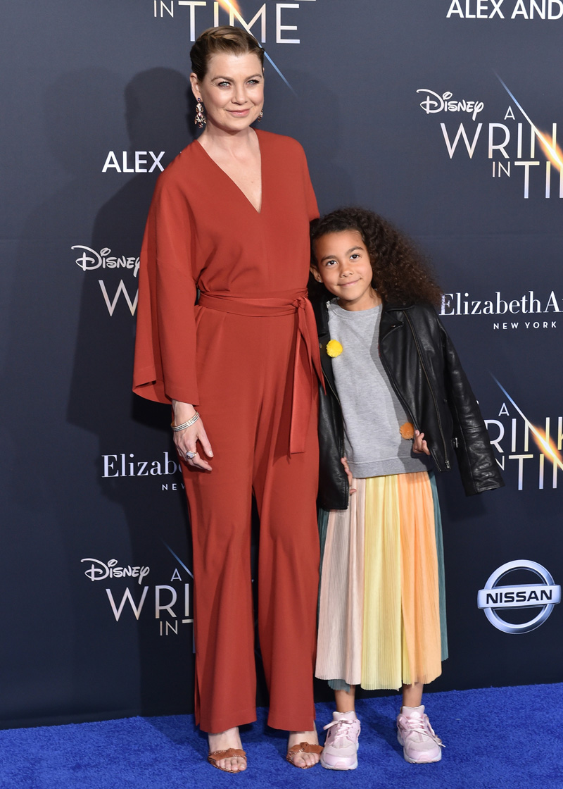 Ellen Pompeo Stella Ivery February 26, 2018 - Los Angeles, California, United States - February 26h 2018 - Los Angeles, California USA - The ''A Wrinkle In Time'' Premiere held at the El Capitan Theater, Hollywood, Los Angeles.