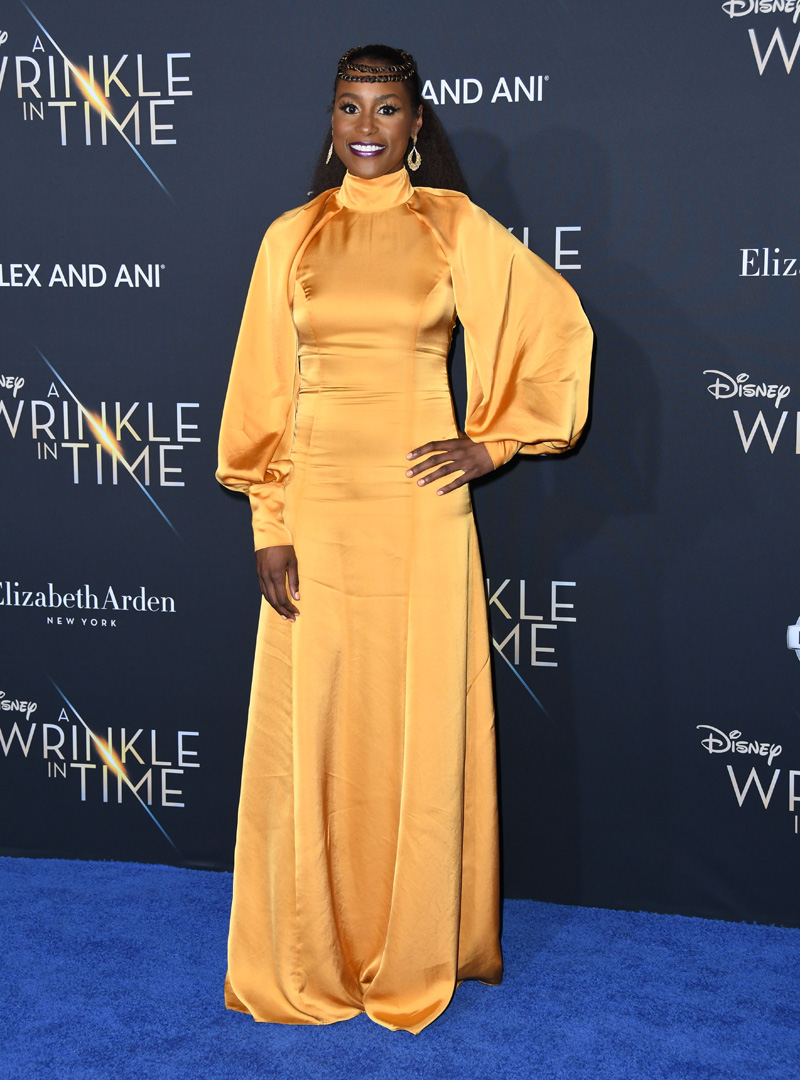 Issa Rae February 26, 2018 - Los Angeles, California, United States - February 26h 2018 - Los Angeles, California USA - The ''A Wrinkle In Time'' Premiere held at the El Capitan Theater, Hollywood, Los Angeles.