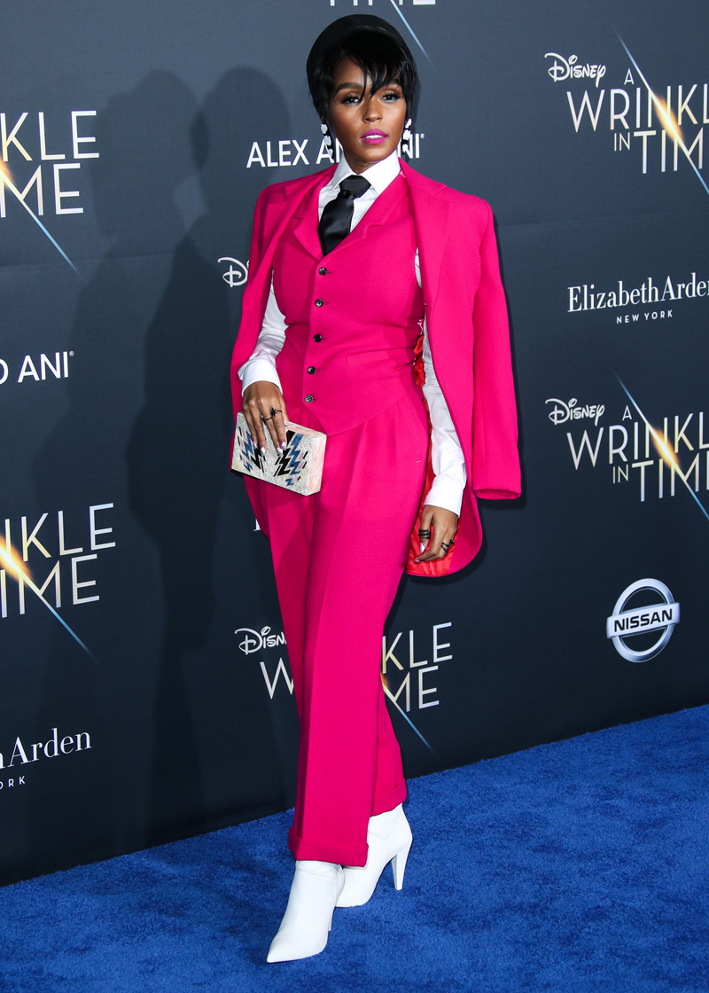 Janelle Monae February 26, 2018 - Los Angeles, California, United States - February 26h 2018 - Los Angeles, California  USA -   The ''A Wrinkle In Time''  Premiere held at the El Capitan Theater, Hollywood, Los Angeles.