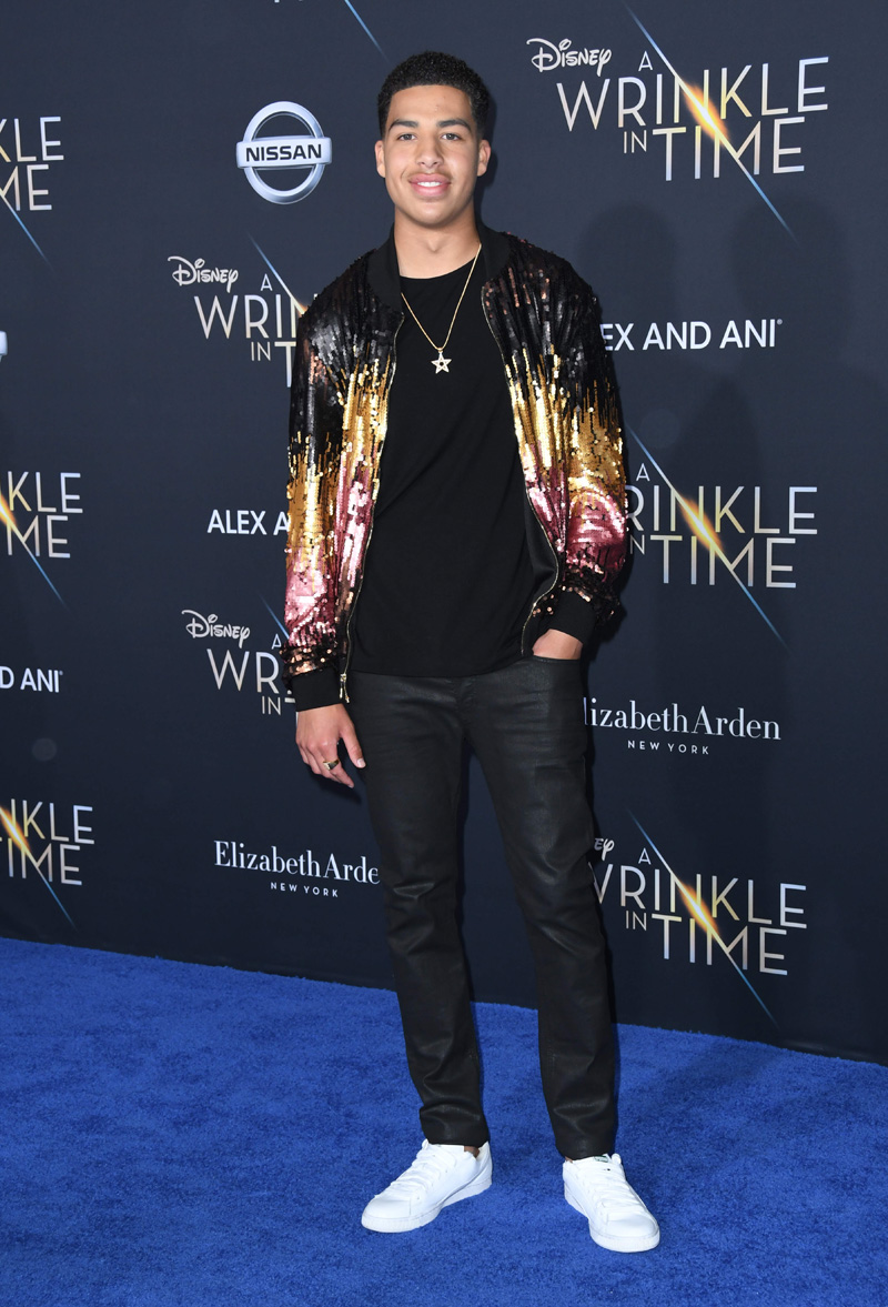 Marcus Scribner February 26, 2018 - Los Angeles, California, United States - February 26h 2018 - Los Angeles, California USA - The ''A Wrinkle In Time'' Premiere held at the El Capitan Theater, Hollywood, Los Angeles.