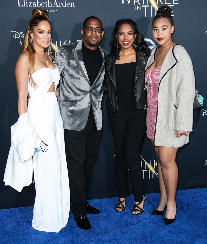 Martin Lawrence family February 26, 2018 - Los Angeles, California, United States - February 26h 2018 - Los Angeles, California USA - The ''A Wrinkle In Time'' Premiere held at the El Capitan Theater, Hollywood, Los Angeles.