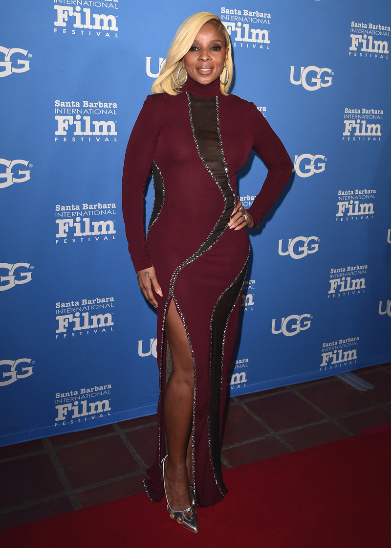 Mary J. Blige Celebrities at the 33rd Santa Barbara International Film Festival, held at the Arlington Theatre in Santa Barbara, California.
