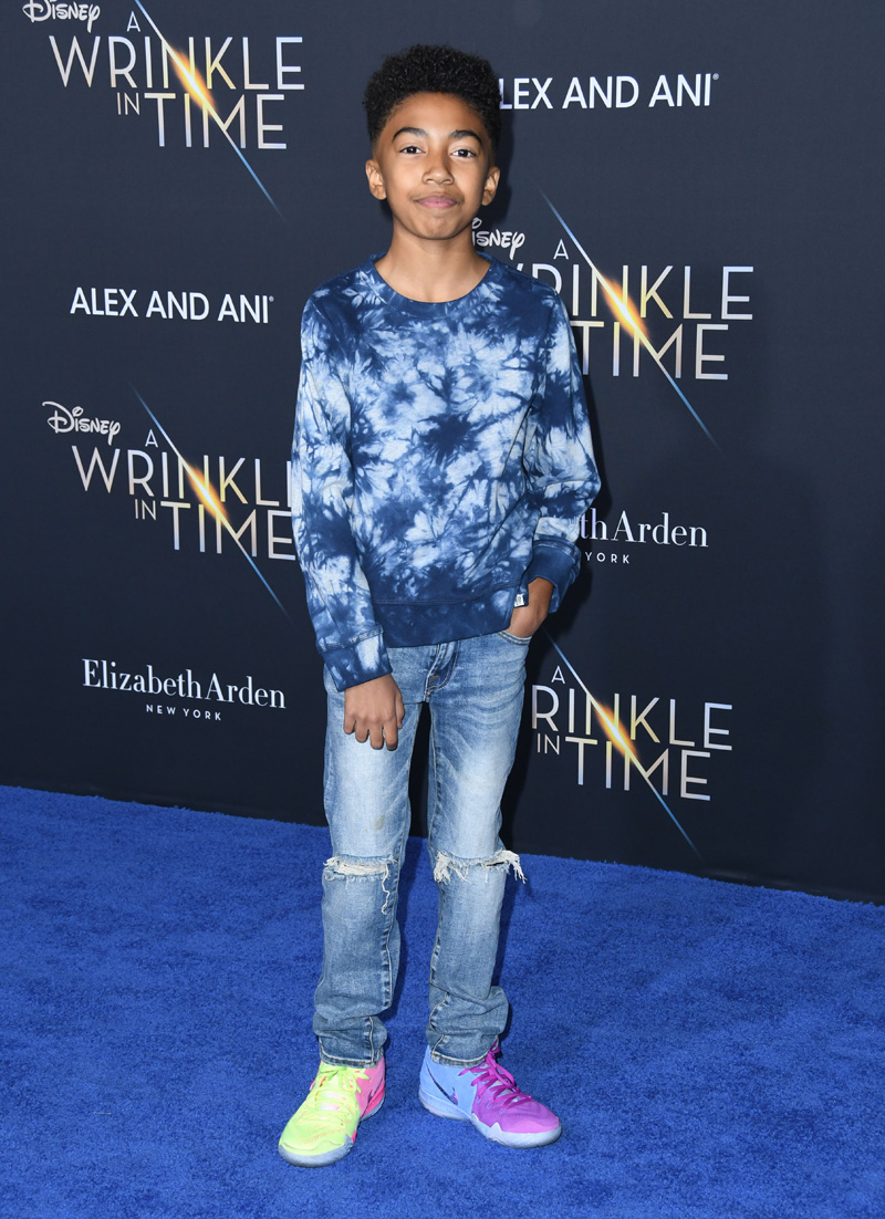 Miles Brown February 26, 2018 - Los Angeles, California, United States - February 26h 2018 - Los Angeles, California USA - The ''A Wrinkle In Time'' Premiere held at the El Capitan Theater, Hollywood, Los Angeles.