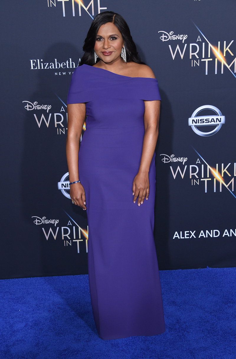 Mindy Kaling February 26, 2018 - Los Angeles, California, United States - February 26h 2018 - Los Angeles, California USA - The ''A Wrinkle In Time'' Premiere held at the El Capitan Theater, Hollywood, Los Angeles.