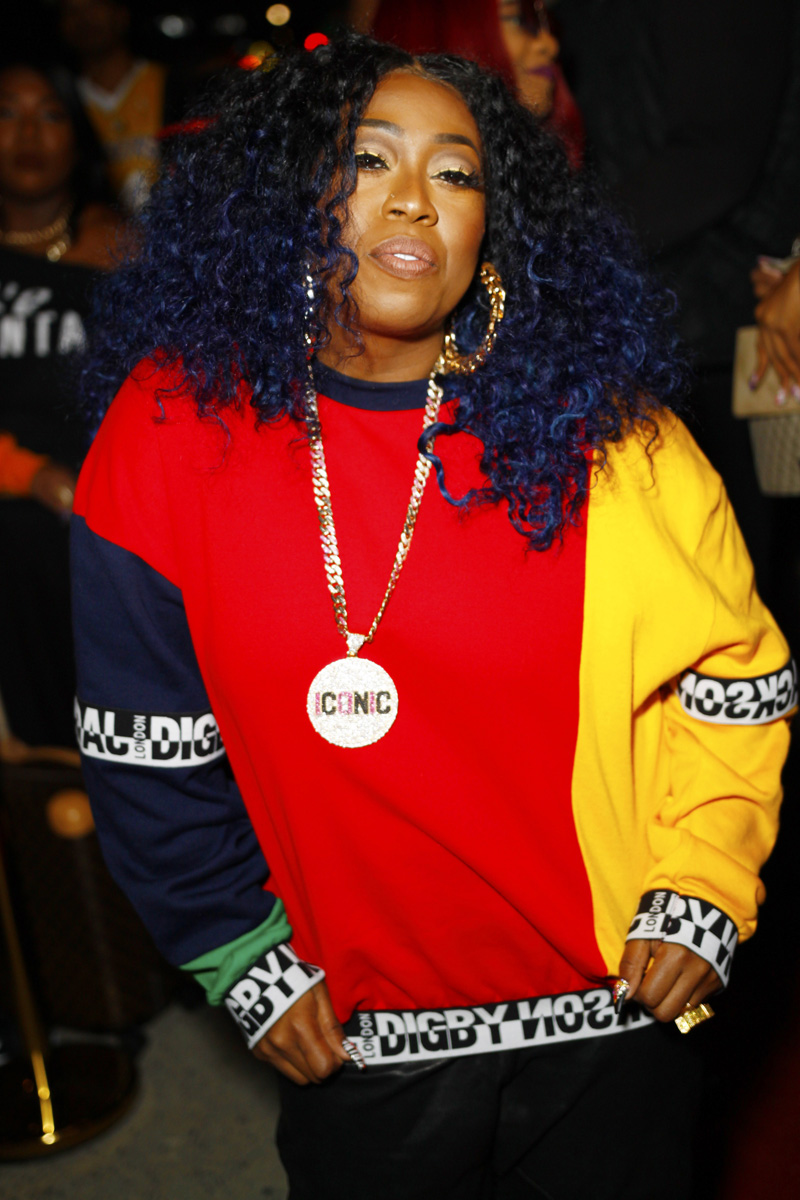 """Missy Elliott Teyana Taylor celebrates the grand opening of """"Junie Bee Nails"""" with celeb friends in NYC"""