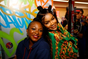 """Naturi Naughton Teyana Taylor celebrates the grand opening of """"Junie Bee Nails"""" with celeb friends in NYC"""