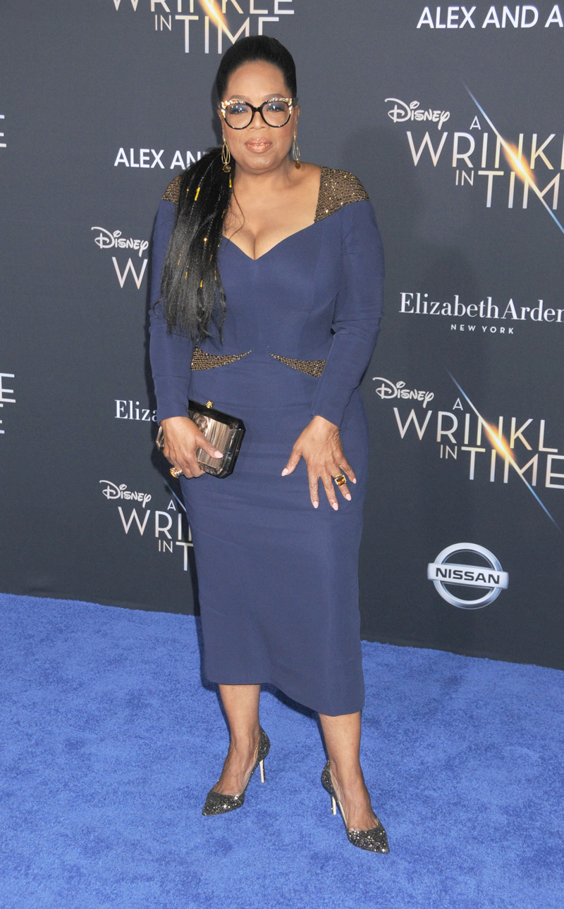 Oprah Winfrey February 26, 2018 - Los Angeles, California, United States - February 26h 2018 - Los Angeles, California USA - The ''A Wrinkle In Time'' Premiere held at the El Capitan Theater, Hollywood, Los Angeles.