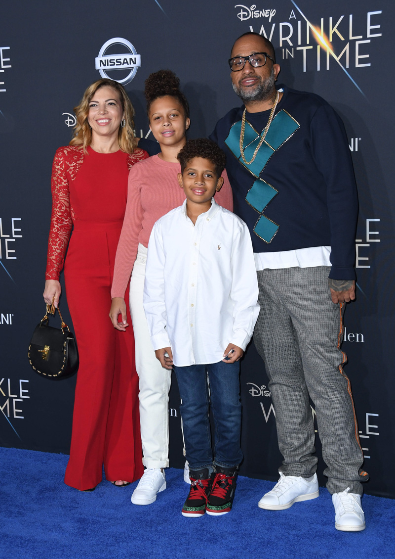 Kenya Barris Rainbow February 26, 2018 - Los Angeles, California, United States - February 26h 2018 - Los Angeles, California USA - The ''A Wrinkle In Time'' Premiere held at the El Capitan Theater, Hollywood, Los Angeles.