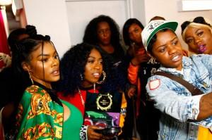 "Teyana Taylor celebrates the grand opening of ""Junie Bee Nails"" with celeb friends in NYC Teyana Taylor, Missy Elliott,"