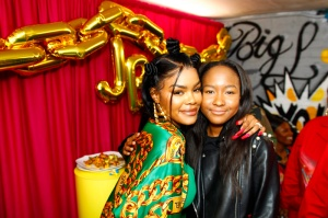 """Donshea Hopkins Teyana Taylor celebrates the grand opening of """"Junie Bee Nails"""" with celeb friends in NYC"""